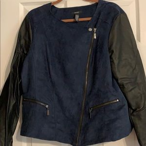 Faux suede/leather jacket